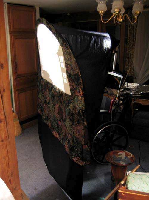 Wheelchair puppet theater left front